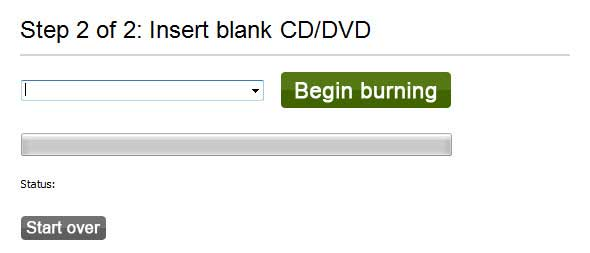 create password reset disk with cd