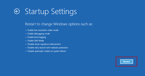 How to Boot Windows Server 2012 in Safe Mode