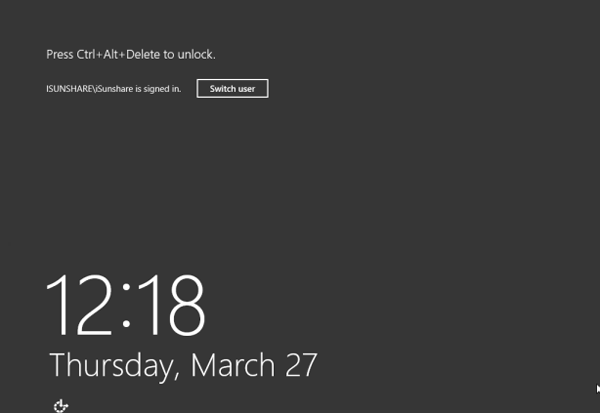turn off windows server 2012 lock screen