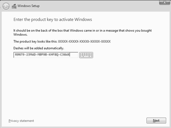 type product key to active server 2012 r2