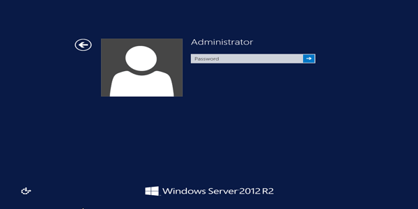 login server 2012 r2 with default administrator