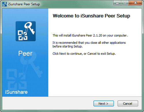 install isunshare peer on client computers