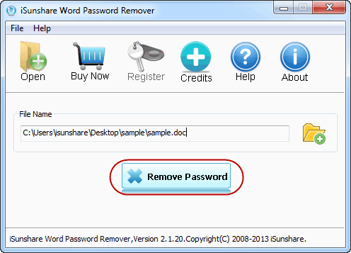 ready for removing word password