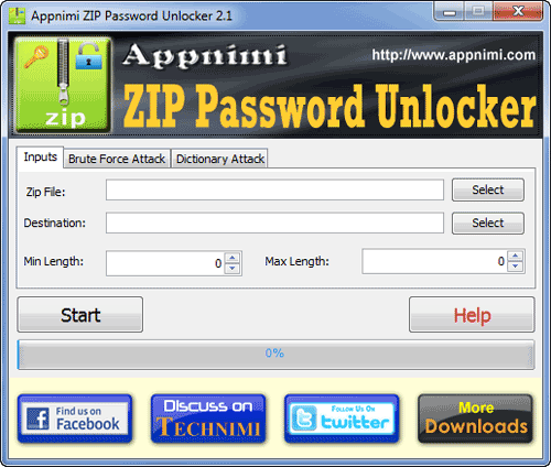 free zip password unlocker