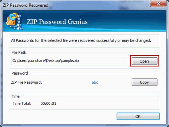 unzip password protected zip file mac without password