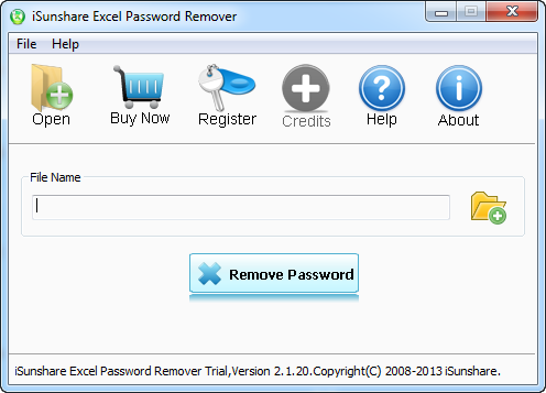 Removes lost or forgotten excel password