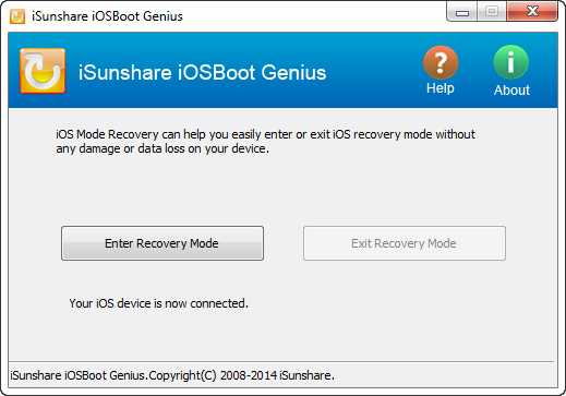 iSunshare iOSBoot Genius full screenshot