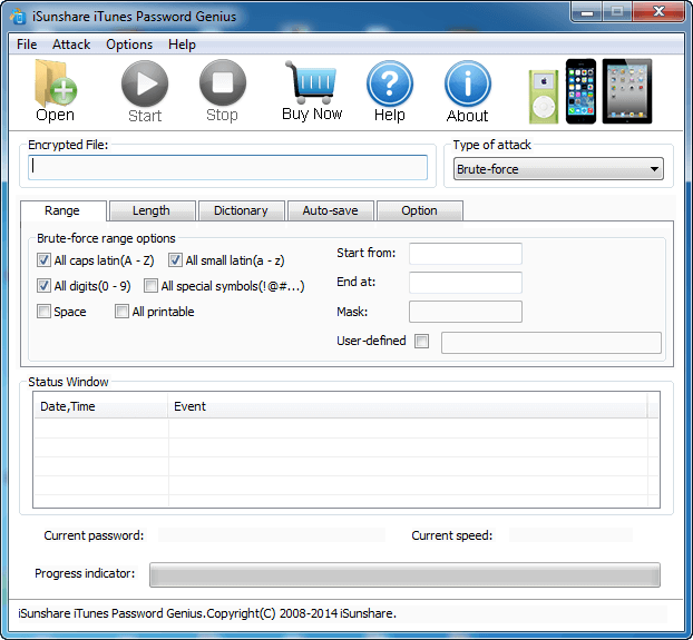 iSunshare iTunes Password Genius full screenshot
