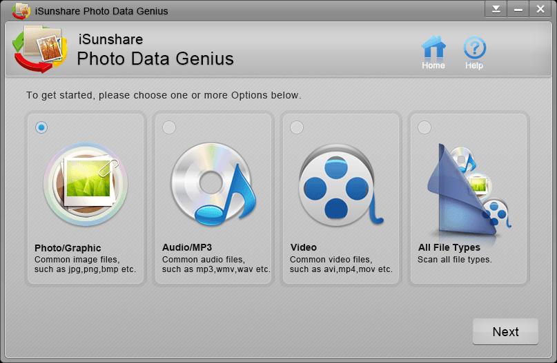 iSunshare Photo Data Genius full screenshot