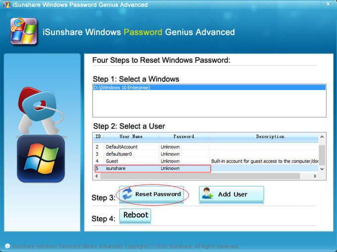 isunshare windows password genius advanced keygen