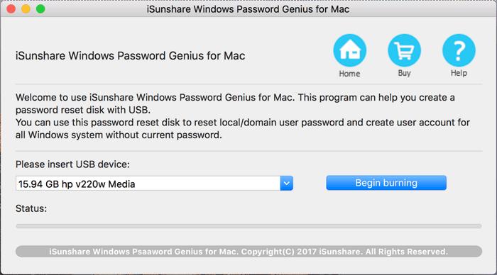 iSunshare Password Genius for Mac full screenshot